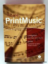 Finale PrintMusic by MakeMusic Music Composition Software 2007 Mac/PC