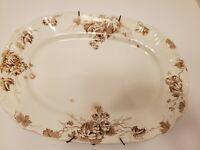 Vintage Oval Serving Plate Floral Vines Alfred Meakin England