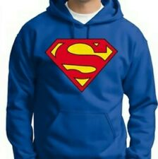 Blue Superman Logo Hoodie - DC Comics Originals - Brand New, Hooded Top Size 2XL