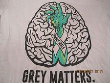 Zombie Walk Grey Matters Novelty T Shirt Sz L Tan
