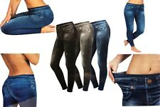3er-Set SLIMmaxx SLIM Jeans-Jeggings Leggings Stretch Denim Hose Skinny 3 Stück