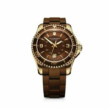 NEW Victorinox Swiss Army Men's Maverick GS Brown Dial Rubber Strap Watch 241608