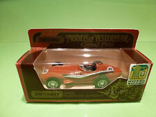 YESTERYEAR  1:43  MATCHBOX - MASERATI 250F  Y-10  1957  - GOOD CONDITION IN BOX