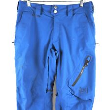 Burton[ak] Men's Snowboard Pant Ski Snow Gore-Tex Waterproof Full Zip Blue Small