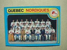 1979/80 O-PEE-CHEE HOCKEY CARD #261 QUEBEC NORDIQUES CHECKLIST EX/NM SHARP!! OPC