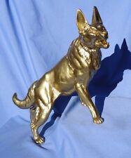 "16"" GERMAN SHEPHERD ALSATIAN MALINOIS antique CARVIN design dog"