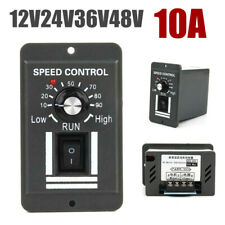 DC 12V 24V 36V 48V 10A PWM Motor Speed Controller Reversible Switch Regulator