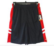 Spalding Performance Shorts Mens Xlarge Red Black Regular Fit Elastic Waist New
