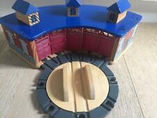 Brio Thomas friends Chuggington wooden shed train tracks Tidmouth w Roundabout
