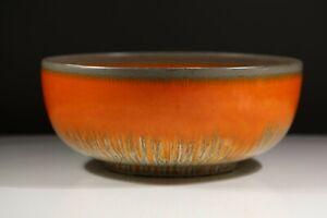 Shelley Harmony Ware Fruit Bowl Vase Drip Glaze Orange Grey Green Art Deco AD1