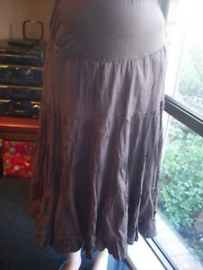 UP THE DUFF MATERNITY SKIRT BROWN SIZE 14 NWT