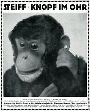 Steiff Affe Reklame von 1913 Werbung