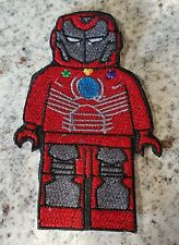 LEGO CHARACTER ( IRONMAN) EMBROIDERED IRON ON PATCH / BADGE / APPLIQUE