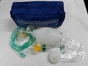 Ambu Bag Adult Silicon Manual Resuscitator Oxygen Tube Mask Size Adult