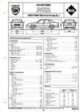 Fiche Technique Automobile - Lancia Thema 1995 ie 16 V et 16 V Turbo après 1992