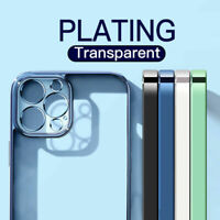 Case For iPhone 12 Pro Max 11 XR XS X 7 8 SE Shockproof Plating Soft Clear Cover