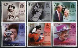 Falkland Islands Royalty Stamps 2021 MNH Queen Elizabeth II 95th Birthday 6v Set