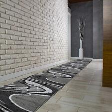 Hochwertig Modern Teppichläufer Küchenmatte Teppich Läufer Dunkelgrau - 2640