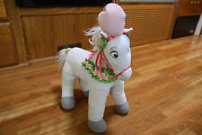 Cinderella Stuffed Plush Horse Disney Store Rare Stuffed Animal Floral Collar