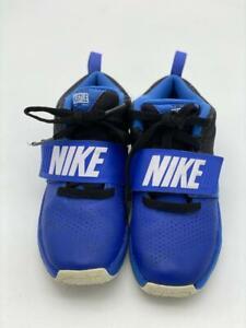 Nike Équipe Hustle D8 Garçons Basketball Chaussures Royal Bleu Blanc Noir Top Sz