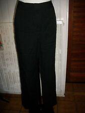 Pantalon habillé lyocell noir leger fluide CAROLL W34 44 bas large 16ET11