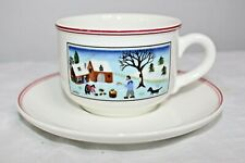 Villeroy & Boch Naif Christmas Cup and Saucer Laplau Holiday table decor