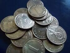 Rare WW2 German Nazi  coin 1937-1939 1 pfennig swastika HitlerRare Coin WW11