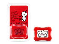 KONAD X BARABAPA Stempel Schaber Set Happy Jelly Clear Stamper Scraper Nailart