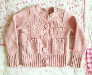 COUNTRY ROAD Sz 2-4 Pink Girls Wool Cardigan