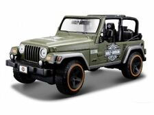 Maisto 1:24 Jeep Wrangler RUBICON Harley Davidson Diecast Model Car Green Boxed