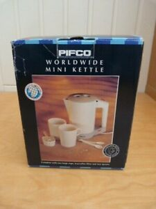 Modern Pifco Worldwide Travel Automatic Mini Kettle + Instructions Model 4847