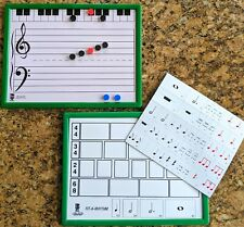 Deluxe E-Z Notes Magnetic-Dry Erase Staff Board - 9 x 12
