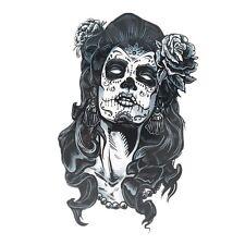 Black Mask Temporary Tattoo Stickers Body Art Waterproof Chikano girl Hallowmas