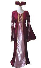 New Renaissance Medieval Regal Princess Tudor Period Fancy dress Costume 12 14