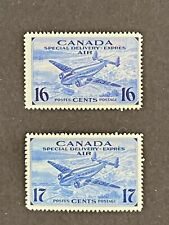 CANADA 1942-43 Air Mail Special Delivery #CE1-CE2 MNH - Well centered - CV 12$+