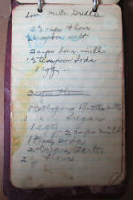 Patent Pending 1914 Hand Written Leather Covered Recipes Cooking