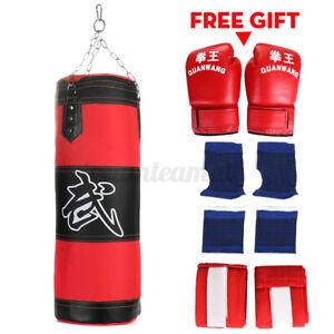 Boxsack Set Boxhandschuhen Gefüllt Sandsack Punching Bag + Handschuhe Boxset