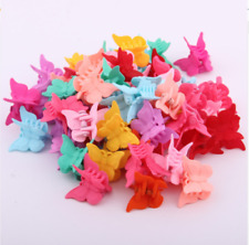 20 Packs Assorted Color Butterfly Hair Clips Women Girls Beautiful Mini New