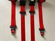 Juego de 5 cinturones de seguridad Rojos Sport EVO style BMW M3 E36  seatbelt
