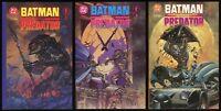 Predator versus Batman Deluxe Trade Paperback TPB set 1-2-3 Lot vs Suydam art
