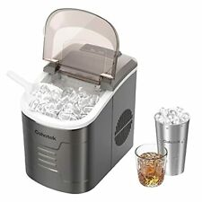 Cohotek Ice Maker, Ice Makers Countertop, 9 Bullet Cubes Ready in 6 Mins, S/L Si