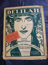 Partitur Delilah Boyer Salabert 1917 Music -blatt Groß Format