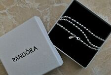 NEW Pandora Ball Chain Sterling Silver 925 Necklace 60cm Boxed Bag RRP £120