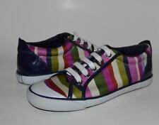 COACH 7 BARRET casual sneakers Bold striped multicolored blue satin Canvas