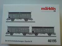 Märklin 46195 Set mit 3 Schiebedachwagen Tcs 850 DB, Ep. IV NEU in OVP
