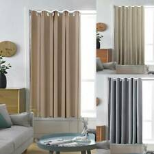 Insulated Heavy Thermal Blackout Thick Thermal  Curtains Eyelet Ring Top Pair