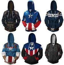 Marvel Avengers Infinity War Captain America 3D Sweatshirts Hoodie Casual Jacket