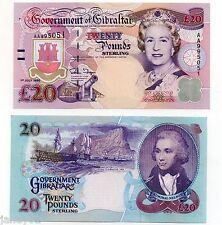 ~ GIBRALTAR  £20 Banknote - 1995 - P27a ~