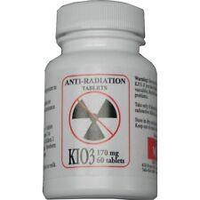 1 BOTTLE Potassium Iodate KIO3 170mg Anti Nuclear Radiation 60 Pills