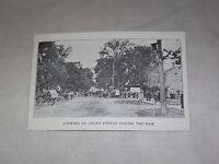 VINTAGE 1912 GREAT ADDISON COUNTY FAIR VERMONT COURT STREET   POSTCARD